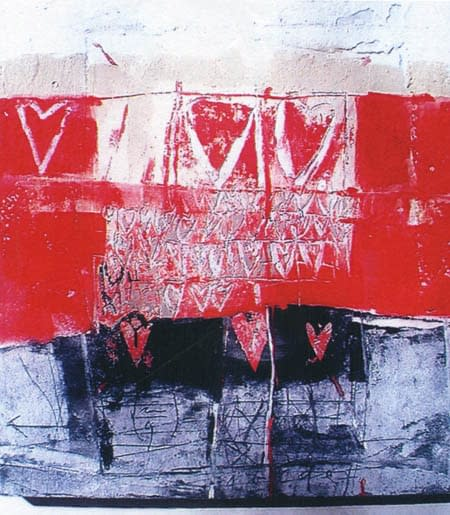 Senza titolo, pittura e tecnica mista su tavola cm. 80 x 100