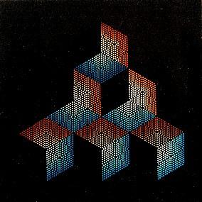 Mokubi, 1994 Assemblaggio cm. 90 x 90